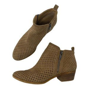 Lucky Brand Basel Perforated Leather Ankle Boots